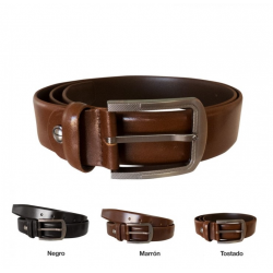 CINTURÓN PIEL NATURAL FORMAL BELT