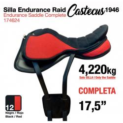 "SILLA ENDURANCE RAID CASTECUS 7.5"" NEGRO/ROJO"