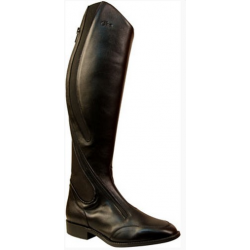 Bota Montar Cuero Synthetic Negra