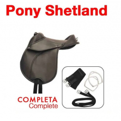 "SILLA SINTÉTICA PONY SHETLAND COMPLETA 12"""