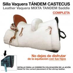 SILLA VAQUERA TÁNDEM CASTECUS COMPLETA NEGRO
