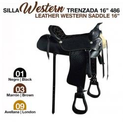 SILLA WESTERN TRENZADA 16 486