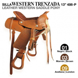 SILLA WESTERN TRENZADA 13 486-P