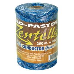 Hilo Pastor Elect. Conductor 200M.6Hilos Azul