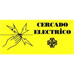 Cartel Indicador De Cerca Electrica