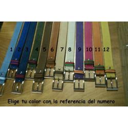 Cinturon Liso Piel De Ante
