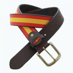 Cinturon Piel/lona  B/españa