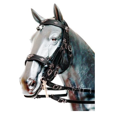 Cabezada portuguesa cortesia gomez filete y bocado for Cabezadas para caballos