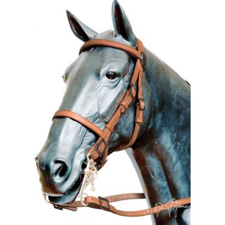 Cabezada portuguesa lisa gomez equivan tienda hipica for Cabezadas para caballos