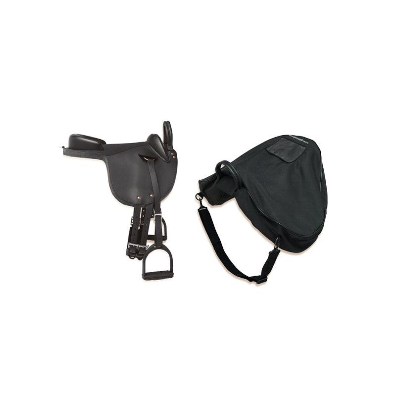 Silla inglesa pony completa negra equivan tienda hipica - Silla de montar inglesa ...