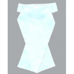 Corbata Plastron Concurso Blanco