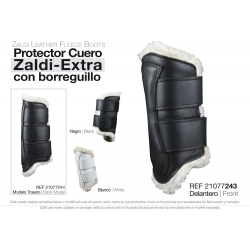 Protector Zaldi Extra Cuero Borreguillo Mano Blanc