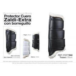Protector Zaldi Extra Cuero Borreguillo Pie Blanco