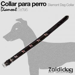 Collar PERRO Diamont Dc095 Negro