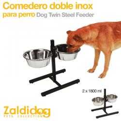 Comedero para perro Doble Inox