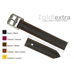 Acion Estribo -Zaldi-E- Cuero/nylon Negro