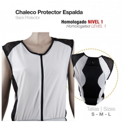 CHALECO PROTECTOR ESPALDA S