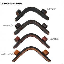 MUSEROLA HH TORNO/SERRETA CON 2 PASADORES CUERO