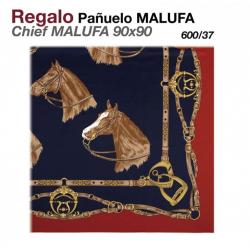 PAÑUELO MALUFA 90x90 600/37 ROJO/AZUL