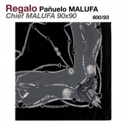 PAÑUELO MALUFA 90x90 600/93 NEGRO