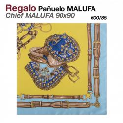 PAÑUELO MALUFA 90x90 600/85 MOSTAZA