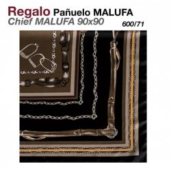 PAÑUELO MALUFA 90x90 600/71 MARRÓN