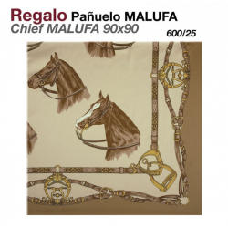 REGALO PAÑUELO MALUFA 90x90 600/25 BEIG